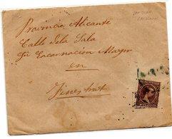 Carta Con Sello De Carteria De San Juan Barcelona - 1875-1882 Königreich: Alphonse XII.
