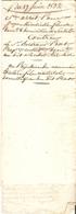 Vieux Papier Du Béarn, Sendets, 1832, Saisie-arrêt Pour La Fileuse Minvielle Contre Prat Au Profit De Son Domestique - Historische Documenten
