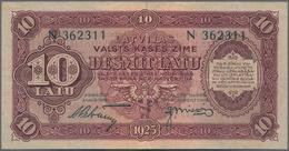 Latvia / Lettland: Latvijas Valsts Kases 10 Latu 1925, Series N And Signatures Petrevics & Miezis, P - Lettland