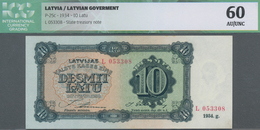 "Latvia / Lettland: Latvian Government 10 Latu 1934, Serial Letter ""L"" With Signatures: Annuss & Skuj - Lettland"