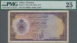 Libya / Libyen: United Kingdom Of Libya ½ Pound L.1951, P.8, Key Note Of This Series And A Great Rar - Libyen