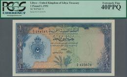 Libya / Libyen: United Kingdom Of Libya 1 Pound L.1951, P.9, Excellent Condition And Great Original - Libyen
