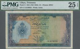 Libya / Libyen: United Kingdom Of Libya 1 Pound ND(1955), P.9, Still Nice With A Few Folds And Minor - Libyen