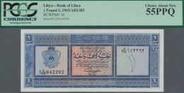 Libya / Libyen: Bank Of Libya 1 Pound AH1382 L.1963, P.30, Almost Perfect Condition With A Few Tiny - Libyen