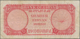 Libya / Libyen: Pair With ¼ And 5 Libyan Pounds 1963, P.30, 31, Both In About F- To F Condition. (2 - Libyen
