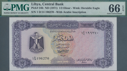 Libya / Libyen: Central Bank Of Libya ½ Dinar ND(1971) With Arabic Inscription At Lower Right On Fro - Libyen