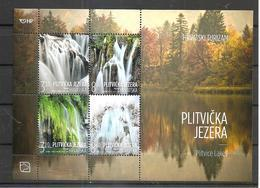 CROATIA 2019,PLITVICE LAKES,NATIONAL PARK,WATERFALL,,LAKE,TURISMUS,BLOCK,MNH - Croacia