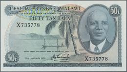 Malawi: Reserve Bank Of Malawi 50 Tambala 1975, P.9c In Perfect UNC Condition. - Malawi