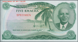 Malawi: Reserve Bank Of Malawi 5 Kwacha 1974 Color Trial SPECIMEN, P.11cts With Minor Traces Of Fore - Malawi