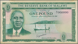 Malawi: The Reserve Bank Of Malawi 1 Pound L.1964 Unadopted Uniface Front Trial On Cardboard By Thom - Malawi