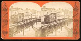 Stereoview - Elevated Railroad New York USA - Stereoscopi