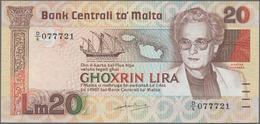 Malta: 20 Liri L.1967 (1986), P.40 In Perfect UNC Condition. Rare! - Malta