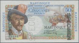 Martinique:  Caisse Centrale De La France D'Outre-Mer 50 Francs ND(1947-49) SPECIMEN, P.30s With Zer - Bankbiljetten