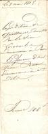 Lot De 3 Vieux Papier Du Béarn, Sendets, 1815, Quittances De Pierre-Etienne Lacombe De Pau à Pierre Prat - Historische Documenten