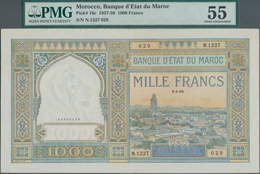 Morocco / Marokko: Banque D'État Du Maroc 1000 Francs 1950, P.16c, Great Condition For This Large Si - Marokko