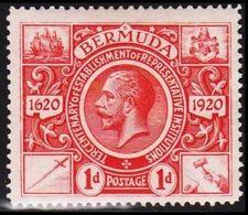 1921. BERMUDA. 300 Years Celebration + Georg V. 1 D.  (MICHEL 62) - JF318892 - Bermuda