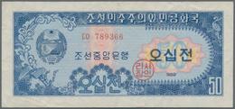 North Korea / Banknoten: Central Bank Of The Democratic Peoples Republic Of Korea, Set With 6 Bankno - Banknoten