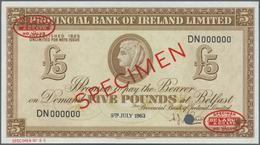 Northern Ireland / Nordirland: Provincial Bank Of Ireland 5 Pounds 1963 TDLR Specimen, P.244s In UNC - [ 2] Ireland-Northern