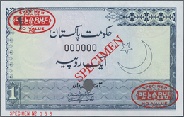 """Pakistan: Government Of Pakistan 1 Rupee ND(1975-79) De La Rue SPECIMEN, P.24As With Oval Stamp """"Spe - Pakistan"""