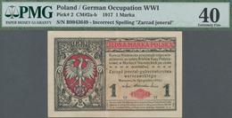 "Poland / Polen: State Loan Bank, German Occupation WW I, 1 Marka 1917, Title On Front Reads ""Zarząd - Polen"