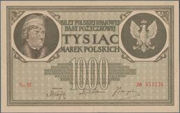 Poland / Polen: 1000 Marek 1919, P.22 In XF+/aUNC Condition - Polen