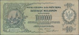 Poland / Polen: Polska Krajowa Kasa Pożyczkowa 10 Million Marek Polskich 1923, P.39, One Of The High - Polen