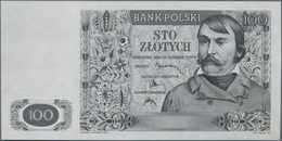Poland / Polen: Bank Polski, Intaglio Printed Uniface Proof Of Front And Reverse Of The Unissued 100 - Polen
