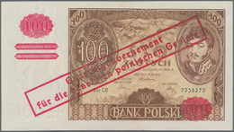 """Poland / Polen: Bank Polski 100 Zlotych 1934 (1939) With Overprint """"Generalgouvernement Für Die Bese - Polen"""