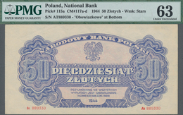 "Poland / Polen: 50 Zlotych 1944, Last Word In Text Spelled As ""OBOWIAZKOWE"""" (correct; Printer: Naro - Polen"
