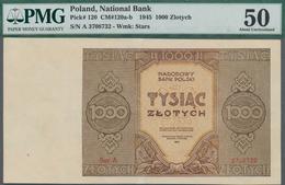 Poland / Polen: 1000 Zlotych 1945, P.120 Replacement Series Ser.A 3708732, Minor Restauration At Low - Polen