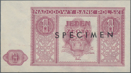 Poland / Polen: Narodowy Bank Polski Pair With 1 And 2 Zlotych 1946 SPECIMEN, P.123s, 124s, Both In - Polen