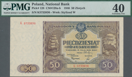 Poland / Polen: 50 Zlotych 1946, P.128, Serial Number K5733836, PMG Graded 40 Extremely Fine. - Polen
