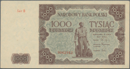 Poland / Polen: 1000 Zlotych 1947, P.133, Excellent Condition With Only Stronger Fold At Center, Oth - Polen