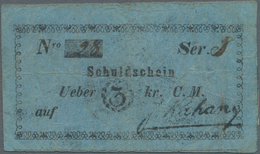 Poland / Polen: J. Kahane – Schuldschein über 3 Kreuzer 1849, P.NL (Podcziaski GA-019) In F/F+ Condi - Polen
