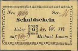 Poland / Polen: Staromiasto – Michael Lamm Schuldschein über 6 Kreuzer 1848, P.NL (Podcziaski GA-037 - Polen