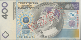 """Poland / Polen: Test Banknote 400 Zlotych 1996 With Hologram Patch At Center, Overprint """"WZOR"""", Seri - Polen"""