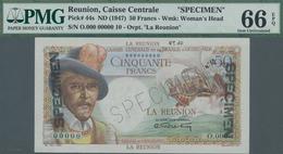 Réunion: Caisse Centrale De La France D'Outre-Mer – La Reunion 50 Francs ND(1947) SPECIMEN, P.44s Wi - Réunion