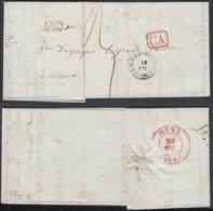 BELGIQUE LETTRE DATE DE SOLRE-SUR-SAMBRE 14/07/1840 TYPE 18VERSW MONS (BE) DC-5394 - 1830-1849 (Independent Belgium)