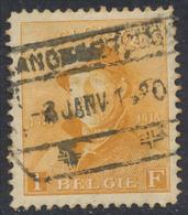 Roi Casqué - N°175 Obl Glissée Chemin De Fer / à étudier. - 1919-1920 Behelmter König