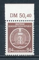 DDR Dienstmarken A 17 X XI ** Geprüft Schönherr Mi. 15,- - DDR