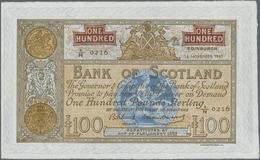Scotland / Schottland: Bank Of Scotland 100 Pounds 1962 With Signatures: Bilsland & Watson, P.95e In - [ 3] Schottland