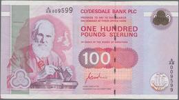 Scotland / Schottland: Clydesdale Bank PLC 100 Pounds 1996, P.223, Stronger Fold At Center And A Few - [ 3] Schottland