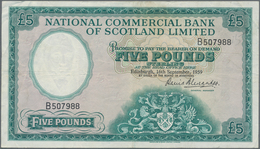 Scotland / Schottland: National Commercial Bank Of Scotland Limited 5 Pounds 1959, P.266, Still Stro - [ 3] Schottland