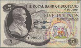 Scotland / Schottland:  The Royal Bank Of Scotland 5 Pounds 1966 Color Trial SPECIMEN, P.328cts, Zer - [ 3] Schottland