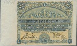 Scotland / Schottland: The Commercial Bank Of Scotland Limited 1 Pound 1904 SPECIMEN, P.S315s Withou - [ 3] Schottland