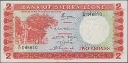 Sierra Leone: Bank Of Sierra Leone 2 Leones ND(1964-70), P.2d, Great Condition With Stronger Vertica - Sierra Leone