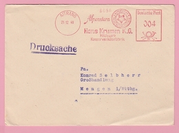 Th.16 Allemagne EMA Alpenstern Milchwerk Konservenkäsefabrik = Fromages Lait  Altrang 21.12.49 - Food