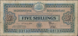 Solomon Islands: The Government Of The British Solomon Islands 5 Shillings 1921, P.1, Extraordinary - Solomon Islands