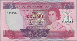 Solomon Islands: Solomon Islands Monetary Authority Set With 3 Banknotes 2, 5 And 10 Dollars ND(1977 - Solomon Islands