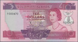 Solomon Islands: Solomon Islands Monetary Authority 10 Dollars ND(1977), P.7a With Low Serial Number - Solomon Islands